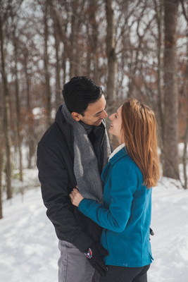 Jonas, Snowstorm, Play, Playing, Photography, Photographs, Snowball, Snow, Snowball Fight, Throwing, Snowballs, Boyfriend, Girlfriend, Romantic, Photos from the Harty, Katie Lingan, Love, Playful, Wed