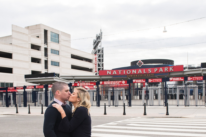 Lauren-Justin-Engagement-Photography, Ohio, Washington DC, DC, Nationals Park, Nats Park, Stadium, Baseball, Winter, Navy Blue, Engagement, Professional, Photographer, Photography, Wedding, Engaged, Bride, Bride to be, Ring, Diamond, Proposal, Proposed