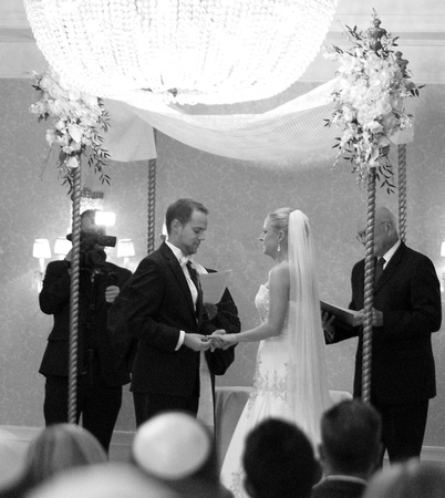 "wedding, wed, ""St Regis"", ""St. Regis"", ""Saint Regis"", ""White House"", DC, Washington, capital, capitol, Jewish, chuppah, flower, flowers, purple, long, gown, white, ""floor length"", ""one shoulder"", diamond, diamonds, ring, rings, platinum, bride, groom, hotel, ballroom, dance, dancing, dances, cake, cakes, cutting, ""cake cutting"", smash, ""cake smash"", NoVA, VA, Virginia, MD, Maryland, Montgomery, ""Washington DC"", classic, classy, elegant, timeless, ornate, summer, hot, rain, pearl, pearls, crystal, crystals, strapless, mermaid, ""fit and flare"", tux, tuxedo, blacktie, ""black tie"", formal, dressy, fancy, beautiful, gorgeous, romantic, love, kiss, marriage, married, veil, perfect, lace, kisses, toasts, toast, toasting, pink, happy"