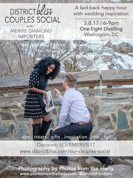 District Bliss Couples Social with Mervis Diamond Importers and Photos from the Harty - We bring you the best proposal EVER!