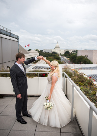 Megan + Tom's Newseum Wedding in Washington, DC by Photos from the Harty, Simply Breathe Events, Blushing Blooms Florals, The Original Runner Company, Black, Modern, Classic, Classy, Event Revolution, DC Rentals, Minted, Elan Artists, Washington Court Hotel, Matchbox, Source by Wolfgang Puck catering, Men's Warehouse, Love Couture Bridal, Wedding Gown, Knight Conference Center, Downtown, DC, Canadian Embassy, Canadian, Outdoor, Ceremony, Indoor, View, Capitol Building, Capitol, Capital, Capital Building, DIY, Personal, Custom, Black Tie, Glam, Glamorous, Blonde, Photography, Top Rated, High Quality, Professional, Photographers, Photographer, Unique, Creative, Artistic, Architecture, Historic, Mod